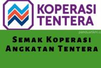 Semak-koperasi-tentera-online-sms
